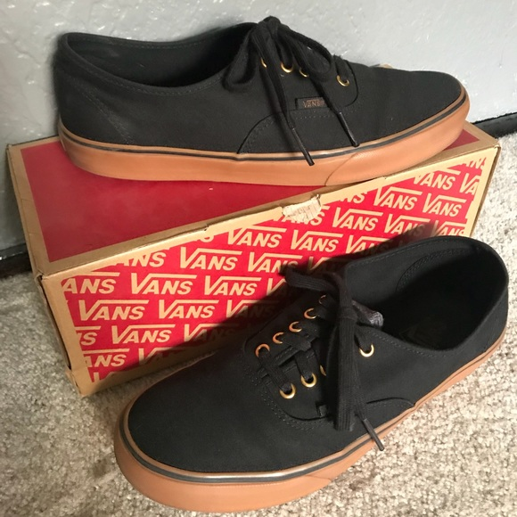 vans black rubber shoes